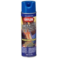 15 Oz APWA Blue Water Based Contractor Marking Spray Paint