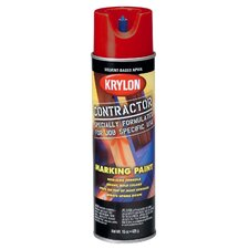 17 Oz APWA Red Solvent Based Contractor Marking Spray Paint