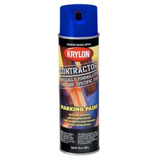 17 Oz APWA Blue Solvent Based Contractor Marking Spray Paint