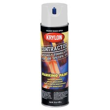 17 Oz APWA White Solvent Based Contractor Marking Spray Paint