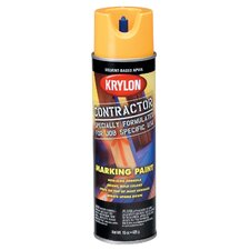 17 Oz APWA Hi Vis Yellow Solvent Based Contractor Marking Spray Paint