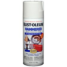 12 Oz White Hammered Spray Paint