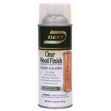 12.25 Oz Clear Interior Waterborne Wood Finish Semi-Gloss