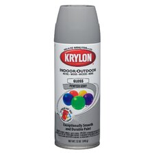 12 Oz Pewter Gray Indoor and Outdoor Spray Paint Gloss