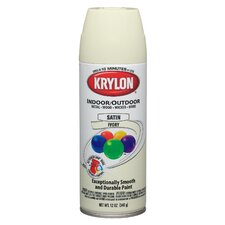 12 Oz Ivory Indoor and Outdoor Spray Paint Satin