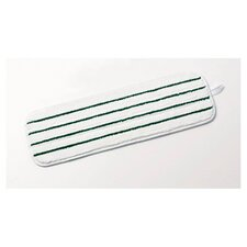 Easy Scrub Microfiber Flat Mop in White and Green