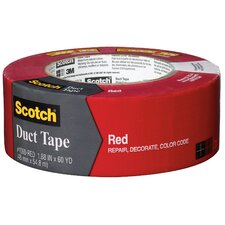 "1.88"" x 60 Yards Scotch Duct Tape in Red"