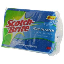 6 Count Scotch-Brite Multi Purpose Non Scratch Scrub Sponge