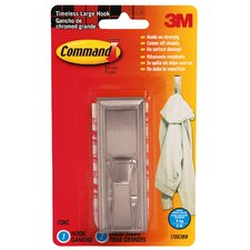 <strong>3M</strong> Large Brushed Nickel Command Timeless Hook