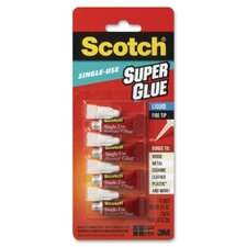 Scotch Super Glue Liquid (4 Per Pack)