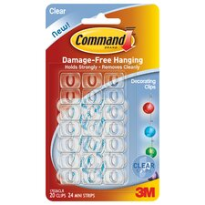 Clear Command Decorating Clip (Set of 20)