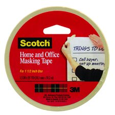"1.5"" x 165' Tan Scotch Home and Office Masking Tape"