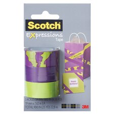 Scotch Expressions Removable Tape (Pack of 3)