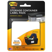 "2.75"" x 3.50"" Storage Container Label Pad (10 Count)"