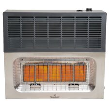 Vent Free 25,000 BTU Infrared Dual Fuel T-Stat Space Heater