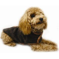 Elegance Checker Dog Coat in Brown
