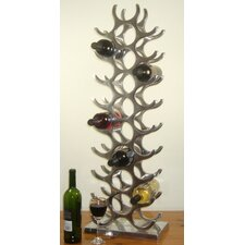 27 Bottle Cast and Polished Solid Aluminum Wine Rack