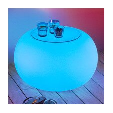 Bubble Side Table with LED-Lighting and Battery