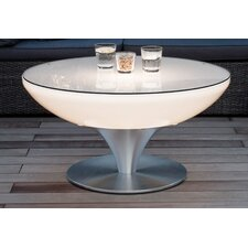 Lounge Outdoor Round Aluminium Coffee Table with LED Lighting