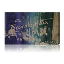 """""""Cocktails at Beverly"""" Vintage Advertisement on Canvas"""