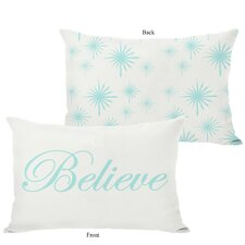 <strong>OneBellaCasa.com</strong> Holiday Believe Reversible Pillow