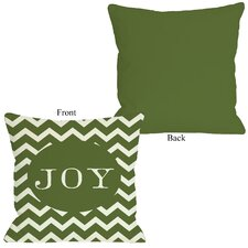 Holiday Joy Chevron Stripe Pillow