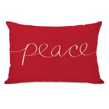 <strong>OneBellaCasa.com</strong> Holiday Peace Mix and Match Pillow
