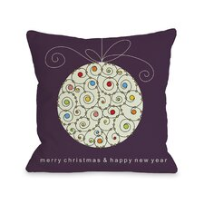 Holiday Large Ball Ornament Pillow