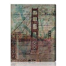 ''San Francisco Bridge'' Graphic Art on Canvas