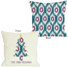 Tis The Season Ikat Tree Reversible Pillow