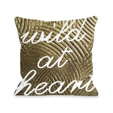 Wild Gold Heart Pillow