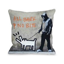 Choose Your Weapon All Bark No Bite Pillow