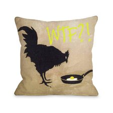 Chicken and Egg WTF Pillow