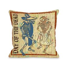 Day of The Dead Dancing Skeletons Pillow