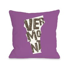 Vermont State Type Pillow