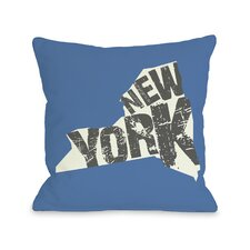 New York State Silo  Pillow