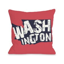 Washington State Type Pillow