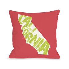 California State Type Pillow