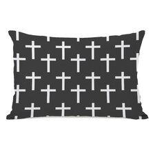 All Over Cross Print Pillow