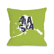 Alaska State Type Pillow