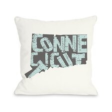 Connecticut State Type Pillow