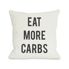 Carbs Vs Kale Reversible Pillow