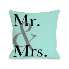 Mr & Mrs Bold Pillow