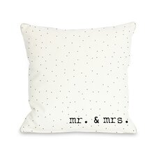 Mr & Mrs Dots Pillow