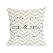 Mr & Mrs Frame Pillow