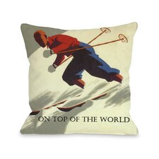 On Top of the World Vintage Ski Pillow