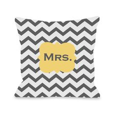 Mrs Chevron Pillow