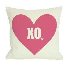 XO with Heart Pillow