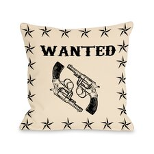 Wanted Stars and Guns Pillow