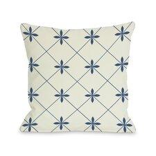 Crisscross Flowers Pillow